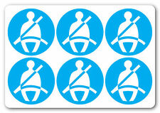 [ 6No | 50x50mm ] SEAT BELTS MUST BE WARN | health and safety signs | TAXI COACH