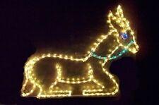 Nativity Sitting Donkey Xmas Outdoor LED Lighted Decoration Steel Wireframe