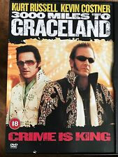 Kurt Russell Kevin Costner 3000 MILES TO GRACELAND Elvis Robbery Thriller UK DVD
