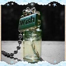 Dandelion wishing charm seed glass bottle pendant necklace. Very Cute❤️