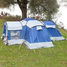 skandika Nimbus 8 Person/Man Group Tent 4 Sleeping Cabins 2 Entrances Blue New