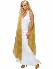 "60"" Ladies Long Godiva Blonde Rapunzel Princess Fancy Dress Costume Wig"