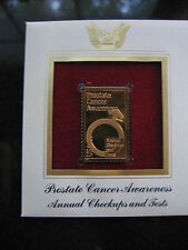 PROSTATE CANCER AWARENESS replica FDI 22kt Gold Golden Cover Stamp FDC 1999