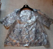 CHANEL transparent rainjacket/coat CC logo throughout pearl buttons New with tag