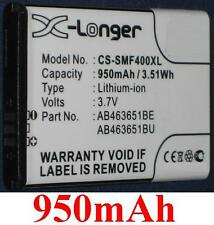 Battery 950mAh type AB463651BE AB463651BU For Samsung GT-S5610