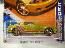 Hot Wheels 2010 Ford Mustang GT Faster Than Ever '11 Gold
