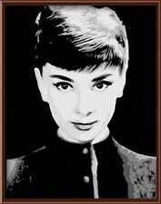 "Paint By Number DIY Digital Oil Painting 16""x20"" Decor - Beauty Audrey Hepburn"