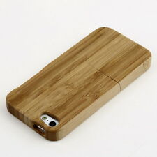 Natural Bamboo Wood Hard Back Case Cover Protector for Apple iPhone 5 5S FH4