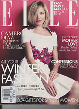 ELLE UK Magazine Dec 2012, Cameron Diaz Hollywoods Golden Girl, WINTER FASHION.