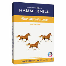 Hammermill Fore Multipurpose Paper, 20lb, 96 Bright, Ream, International A4 Size