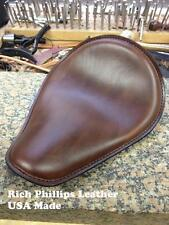 Spring Solo Motorcycle Seat Chopper Sportster Bobber Rich Phillips Leather Brown