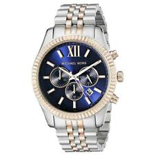Michael Kors MK8412 Gents Blue Dial Two Tone Bracelet Chrono Watch
