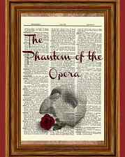 Phantom of the Opera Dictionary Art Print Book Picture Poster Play Webber Mask