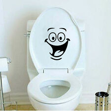 Fashion Room Decor Laugh Face Smile Toilet Sticker Removable Mural PVC Decal