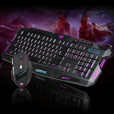 LED Gaming Wired 2.4G keyboard And 5500DPI Mouse Set to Computer Multimedia Game