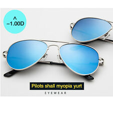 Unisex Myopia Minus Nearsighted Aviator Lens Sunglasses Eyewear Glasses -1.00D