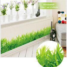 Waterproof Removable 3D Wall Sticker Green Meadow Pattern Cartoon Wallpaper