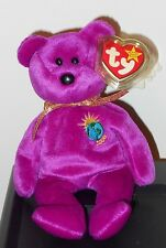 NM* Ty Beanie Baby RARE Millennium Bear NM w/ TAG ERRORS 1999 Millenium No Stamp