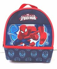"Marvel Spider-Man 2 Pocket Compartment Insulated Lunch Bag 12"" Diagonal NWT"