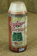 Christmas Story Men's Boxer Shorts Small Leg Lamp Metal Tin Can Green NEW