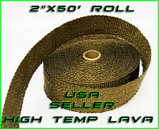"Titanium Lava Wrap Exhaust Turbo Heat Manifold Header 2""x50' ROLL VERY HIGH TEMP"
