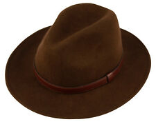 Men's Crushable  Wool Felt Outback Hat / he52