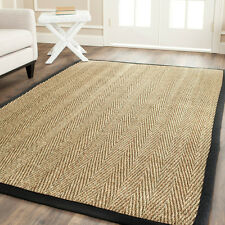 "Safavieh Handwoven Natural Fiber Sisal Black-bordered Seagrass Rug (4'x6"")"