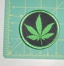 Embroidered Patch - Marijuana Leaf