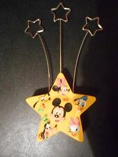 Disney's Mickey Mouse Photo Holder Yellow Star w/ Fab 5 Characters 1928 to 2001