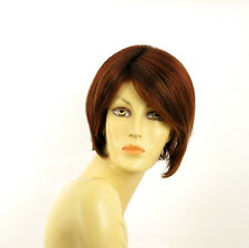 Short Wig for women brown copper wick light blond and red ref: FRANE 33h PERUK