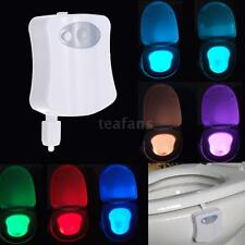 8 Colors LED Toilet Bathroom Night Light Human Motion Activated Sensor Lamp A8A4