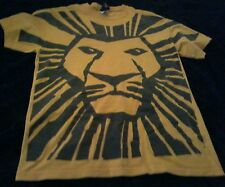 Disney The Lion King Broadway Musical T Shirt Yellow M Simba Pumbaa Timon As Is