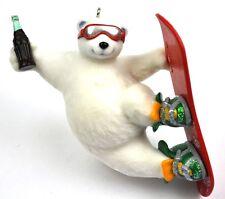 Coca-Cola Coke USA Anhänger Christbaumschmuck Ornament - Snowboard Bär Eisbär