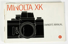 MINOLTA XK OWNERS MANUAL