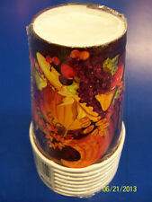 November Harvest Fall Autumn Thanksgiving Holiday Party 9 oz. Paper Cups