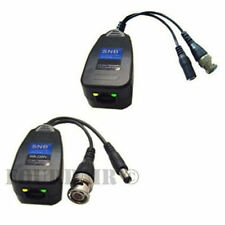 2 Pair CCTV Coax BNC Video & Power Balun Transceiver to CAT5e 6 Surge Protection