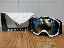 Oakley Crowbar Slalom Mint Emerald Iridium Goggles Snowboard Green White SO RARE