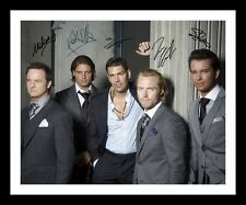 BOYZONE AUTOGRAPHED SIGNED & FRAMED PP POSTER PHOTO
