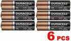 6 Duracell MN1500 AA 1.5V Alkaline Coppertop Long Lasting Batteries w/DuraLock