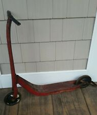 Vintage Classic Radio Red Flyer line kids Kick scooter original needs handle