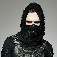 Punk Rave Men's Gothic Biker Hannibal Halloween Gladiator Cosplay Black Mask