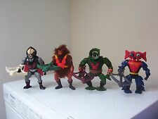 vintage Masters of the Universe figures HORDAK,GRIZZLOR,MANTENNA & LEECH.