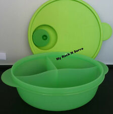 Tupperware Crystalwave Micro Divided Container Green Color 4 Cups NEW !!!