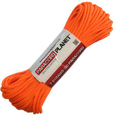 Neon Orange 100' 550 Paracord Mil Spec Type III 7 Strand Parachute Cord 100 ft