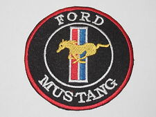 MOTORSPORTS RACING CAR SEW ON / IRON ON PATCH:- MUSTANG (a) GOLDEN MUSTANG