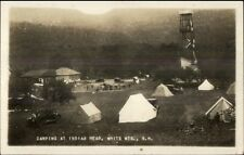 White Mountains NH Camping at Indian Head c1920 Real Photo Postcard