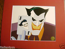 MATTED THE JOKER BATMAN CARD DECK CEL CELL ANIMATION ART