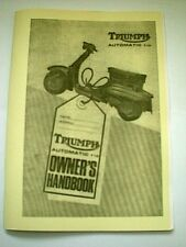 Triumph T10 Automatic Scooter Owners Handbook 1966 TH11