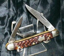 """Schrade 708 Jack Knife Cir-1965-1973 W/Jigged Delrin Handles 2-3/4"""" Cl. Cleaned"""