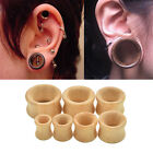 Hand Carved Organic Bamboo Wood Ear Tunnels Gauges-Ear Expander Piercing WKAU